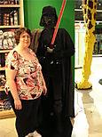 Aurora at Downtown Disney Lego store next to Darth Vader