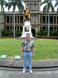 Nicholas in front of King Kamehameha Statute