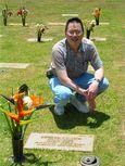 Nicholas at Dad's Grave Site