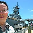 TONO at the side of the USS Missouri 8-4-11