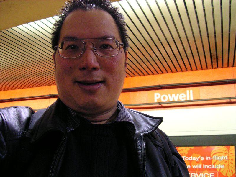 TONO BART subway ride Powell Street 2-8-2012