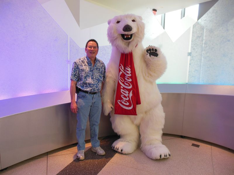 Nicholas and Coke Polar Bear 6-25-12