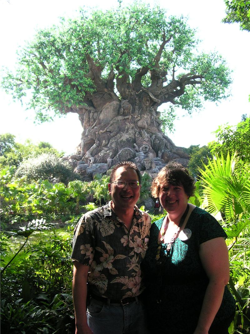 TONO and Sunshine at Animal Kingdom Tree of Life 9-27-2010 1037am
