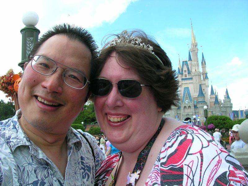 TONO and Sunshine at Disneyworld castle 2010