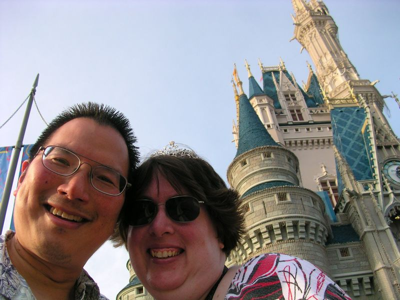 TONO and Sunshine at DisneyWorld castle 9-26-2010