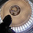 Nicholas in the Capital Rotunda looking up