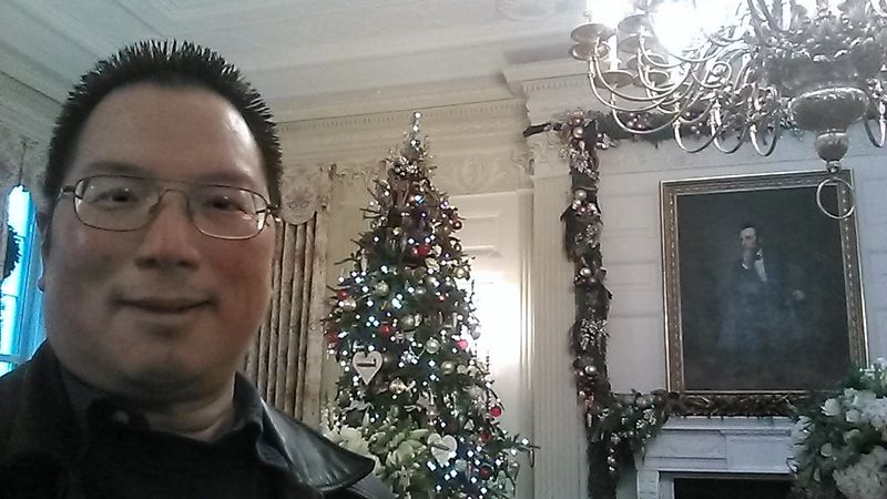 Nicholas at White House State Dining room 12-5-2013