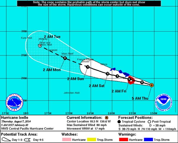 Hurricane Iselle 8-7-2014