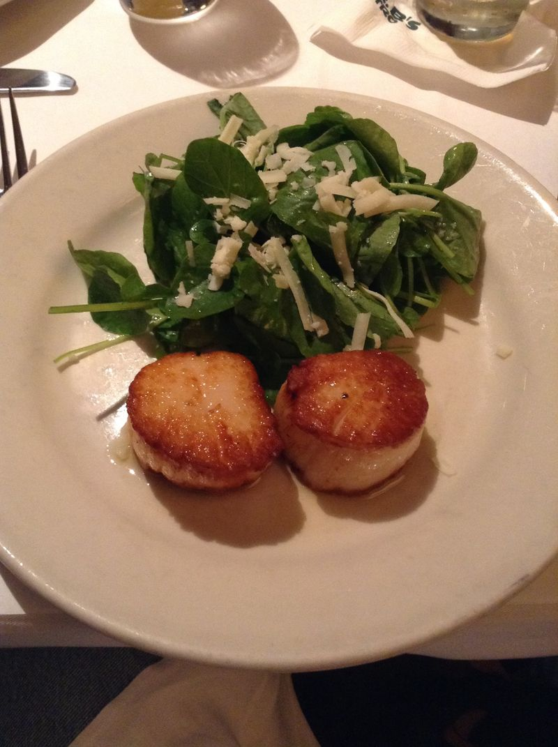 Mr B Sea Scallops meal 9-19-2014
