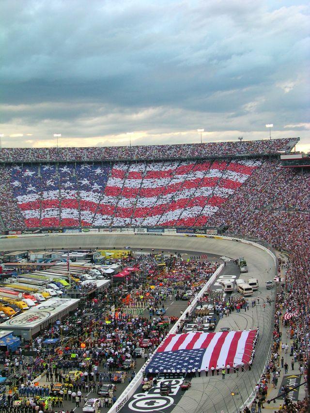 American Flag twice at Bristol, TN