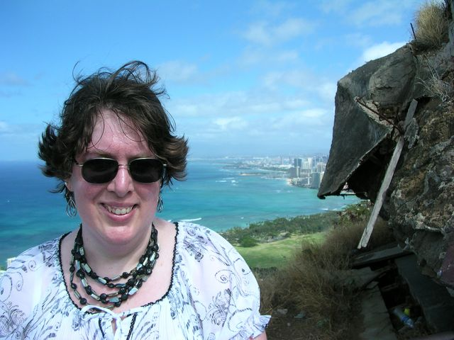 Aurora at the top of Diamond Head 8-5-11