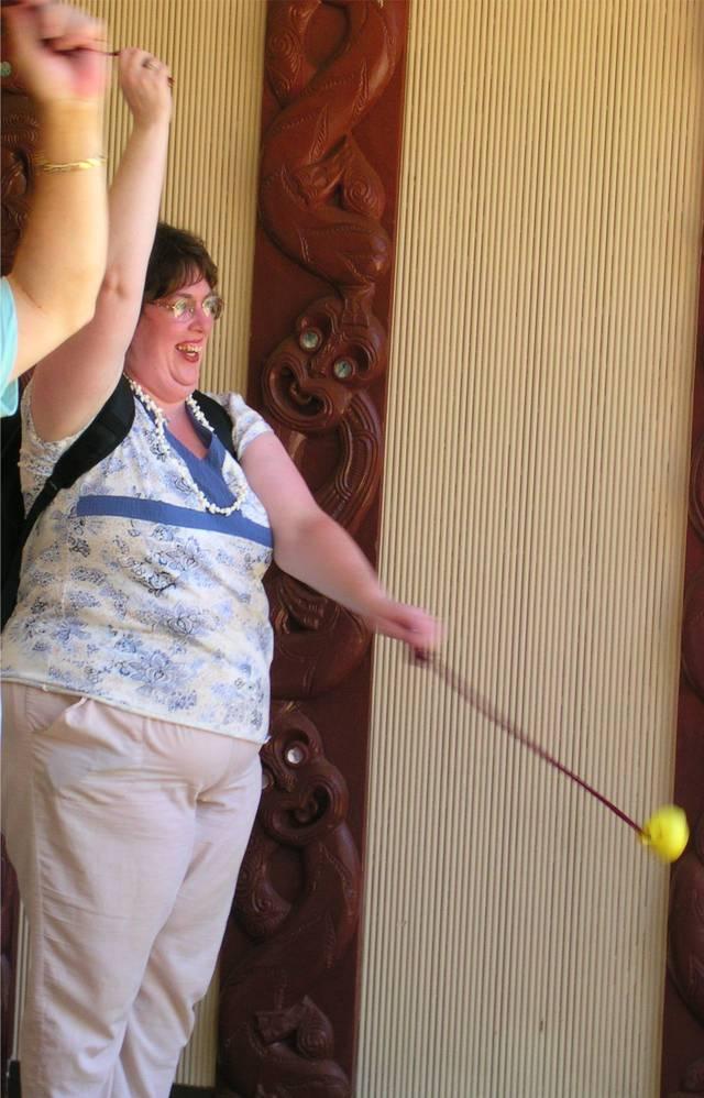 Aurora with the Poi balls at Polynesian Cultural Center