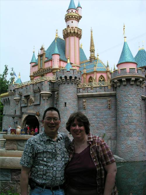 Nicholas and Aurora at Sleeping Beauty Castle