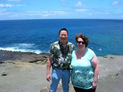 Nicholas & Aurora near Blow Hole on the eastern side of Oahu