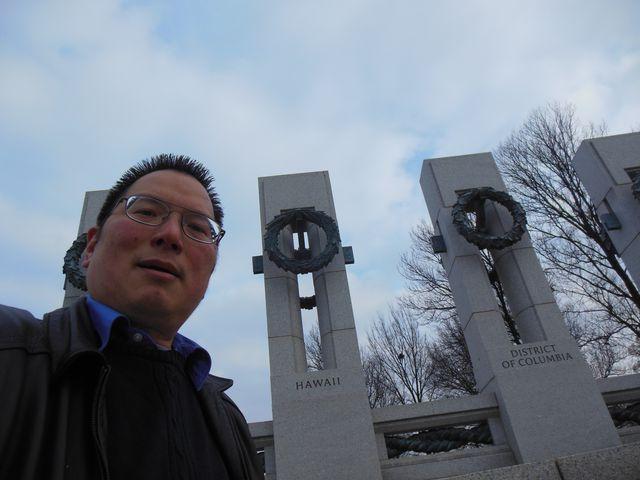 Nicholas with Hawaii state at World War II Memorial