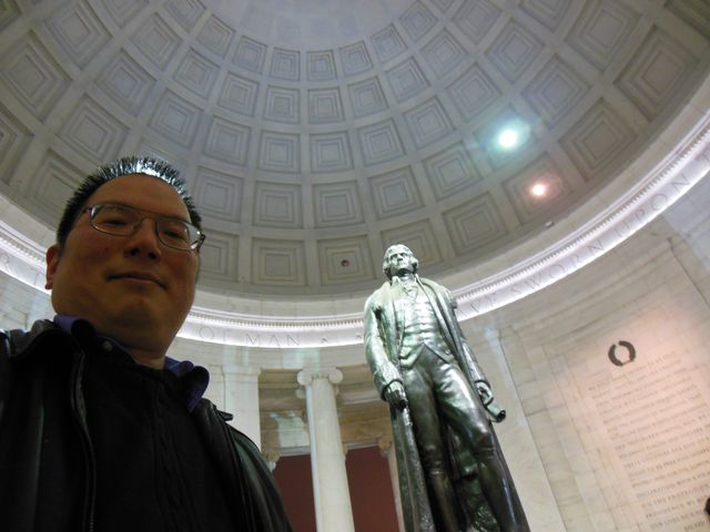 Nicholas at the Jefferson Memorial